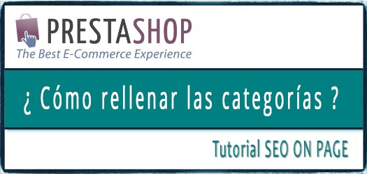 SEO TUTORIAL CATEGORIAS PRESTASHOP