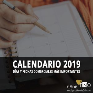 Calendario comercial 2019 | Calendario Marketing 2019