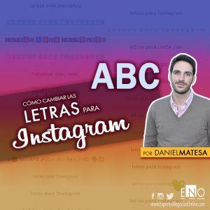 Conversor de Letras para Instagram | Todas las tipografías & fuentes