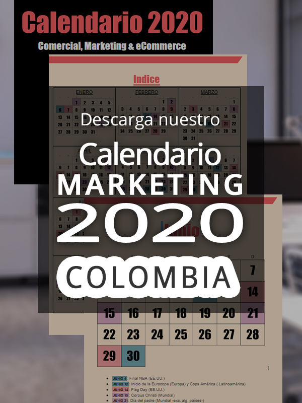anuncio Calendario ecommerce 2020 Colombia