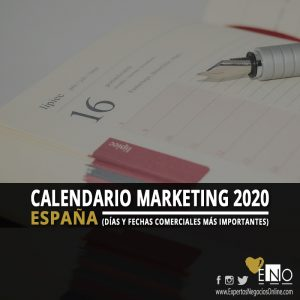 Calendario comercial 2020 España | Calendario Marketing 2020 España