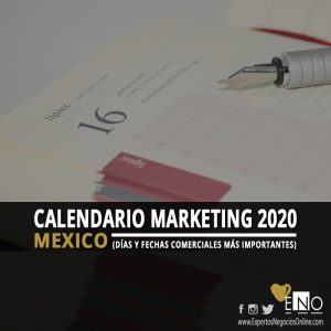 Calendario comercial 2020 Mexico | Calendario Marketing 2020 Mexico