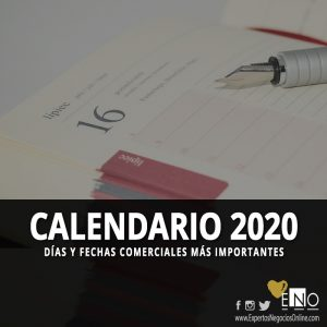 Calendario comercial 2020 | Calendario Marketing 2020