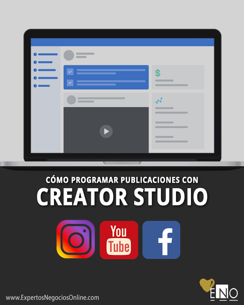 Programar post con Creator Studio para Instagram, Facebook y YouTube