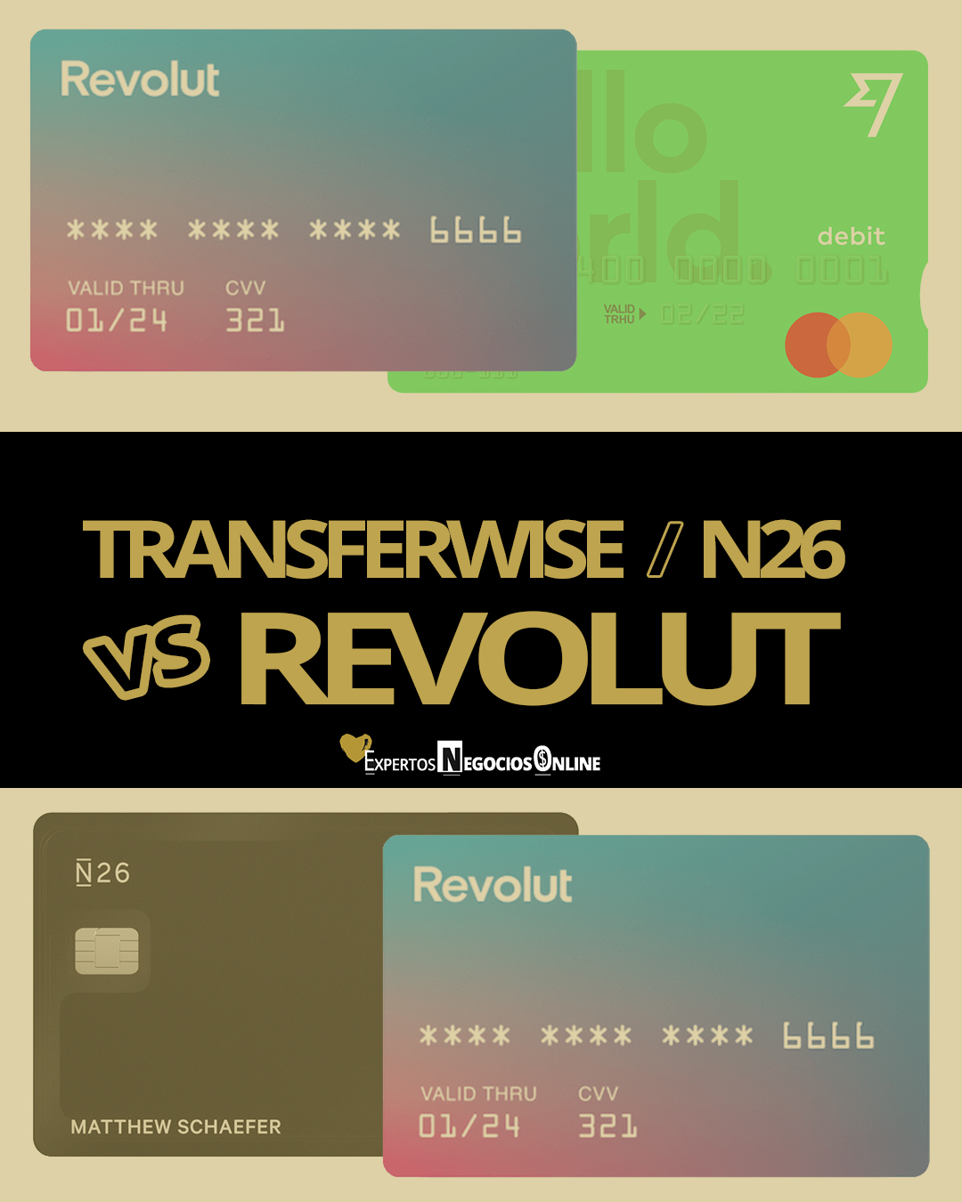Transferwise empresas VS Revolut Business VS N26