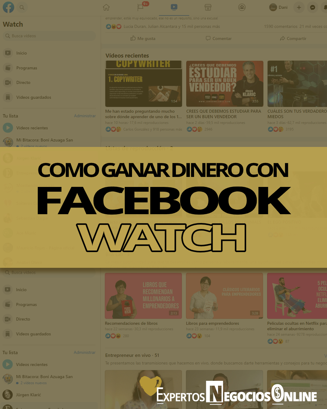 cómo ganar dinero con Facebook Watch - monetizar FB Watch