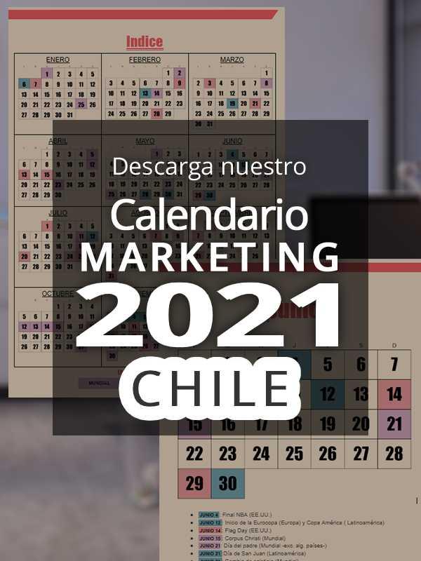 Calendario comercial 2021 Chile | Calendario Marketing 2021 Chile