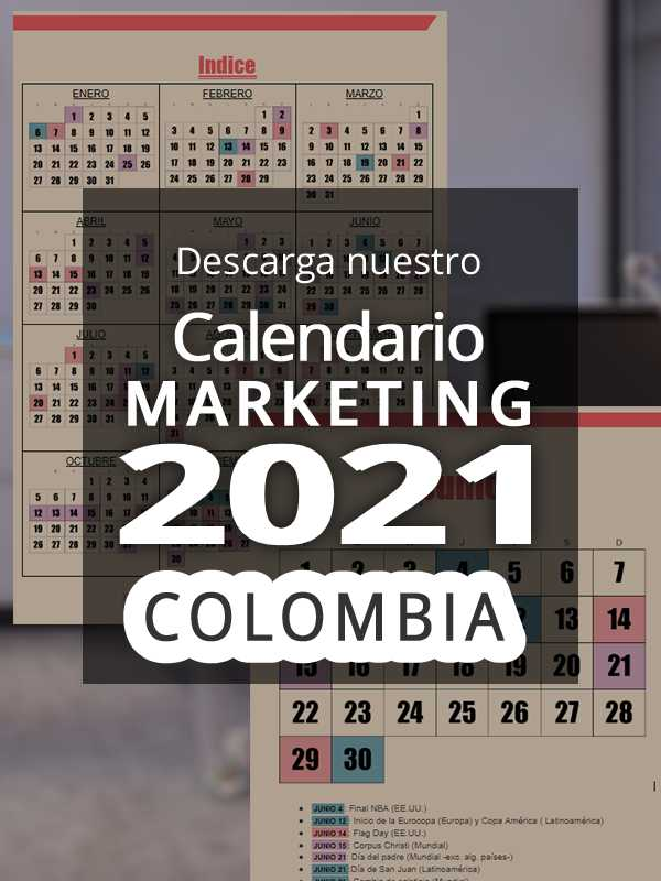 Calendario comercial 2021 Colombia | Calendario Marketing 2021 Colombia