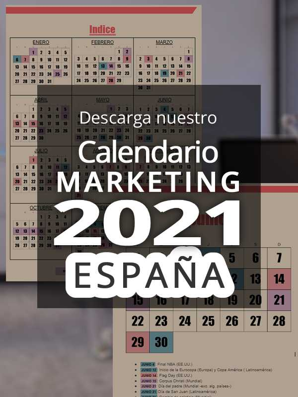 Calendario comercial 2021 España | Calendario Marketing 2021 España