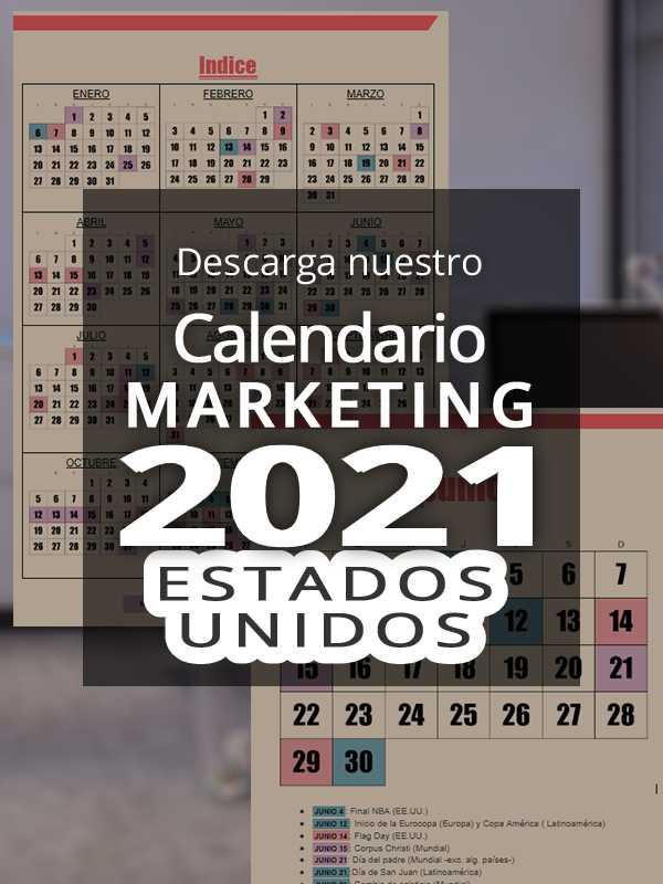 Calendario comercial 2021 Estados Unidos | Calendario Marketing 2021 Estados Unidos
