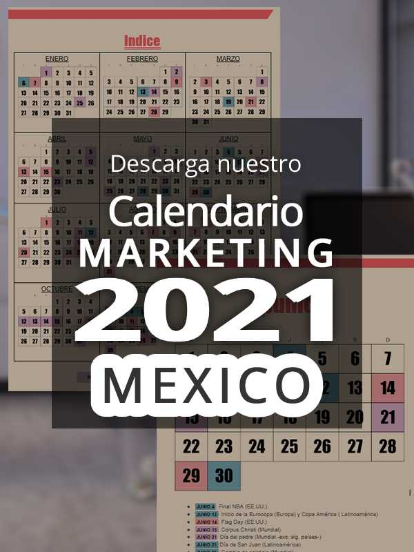Calendario comercial 2021 Mexico | Calendario Marketing 2021 Mexico